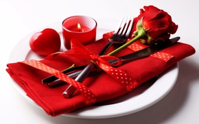 Picture romance, rose, hearts, love, rose, heart, romantic, serving, Valentines's Day