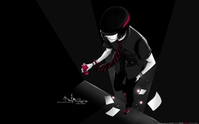 Wallpaper red, sneakers, guy, Bleach, Shinji Hirako