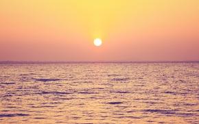 Picture sea, the sky, landscape, nature, sky, sea, landscape, nature, beautiful sunset scene, beautiful sunset scene