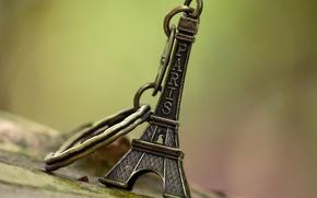 Picture macro, Eiffel tower, Paris, keychain, paris, souvenir