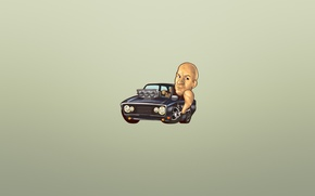 Picture machine, people, minimalism, car, VIN Diesel, The fast and the furious, Vin Diesel, The Fast …
