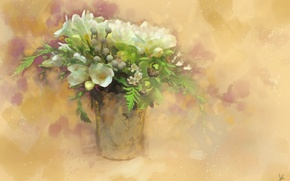 Picture flowers, bouquet, drawing