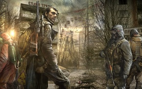 Picture weapons, Apocalypse, soldiers, Stalker