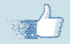 Picture collage, logo, icons, facebook, icon, social network, i like you.