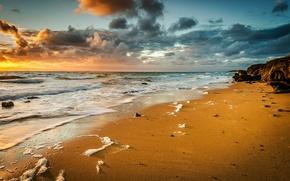 Picture sand, sea, wave, beach, foam