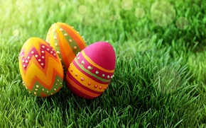 Wallpaper grass, holiday, eggs, spring, Easter, Easter, painted, Easter