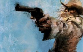 Picture Cowboy, revolver, Western, shooter