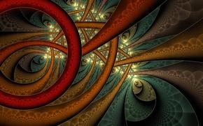 Wallpaper line, pattern, paint, arc, the volume