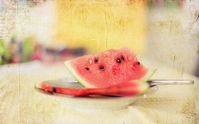 Picture style, background, watermelon