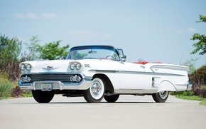 Picture Chevrolet, Chevrolet, Bel Air, the front, Impala, Convertible, 1958