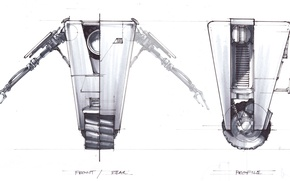 Picture design, sketch, Borderlands, Claptrap
