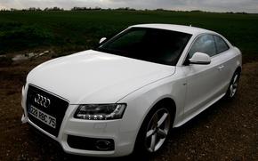 Wallpaper Audi, white, Audi A5, Coupe, quattro