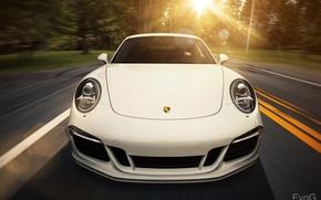 Picture white, 911, Porsche, white, Porsche, Blik, Carrera, Evano Gucciardo