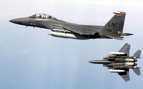 Picture fighter, Eagle, F-15E, shock, Strike