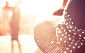 Wallpaper summer, the sun, hat