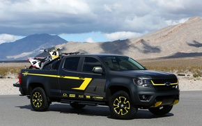 Picture photo, black, tuning, Chevrolet, car, 2014, Colorado Performance