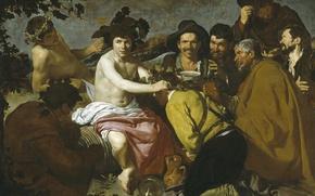 Wallpaper picture, The Triumph Of Bacchus, mythology, Diego Velazquez