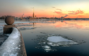 Picture winter, river, morning, frost, Saint Petersburg, 2015, The Palace district, 29 Dec