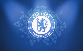 Picture fans, football, Desk, Chelsea, emblem, Wallpaper, football, Chelsea, fans