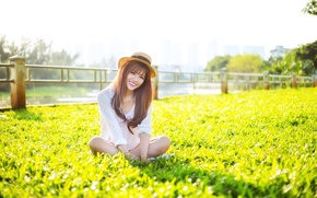 Picture summer, girl, smile