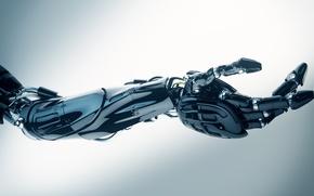 Picture metal, cyborg, arm, robotics