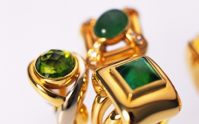 Picture gold, ring, decoration, emerald