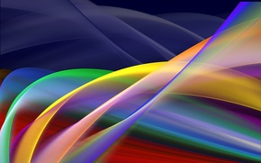 Picture line, abstraction, Stripes, Borealis, by Frankief