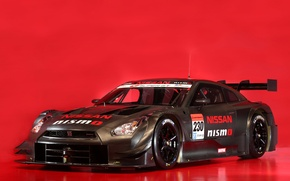 Picture red, background, Nissan, GT-R, carbon, gt500, racing, nismo