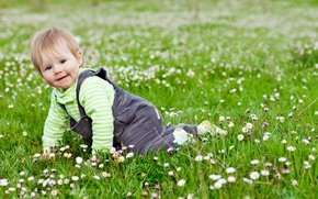 Picture grass, joy, flowers, children, game, child, garden, cute, play, grass, happy, flowers, garden, child, baby, …