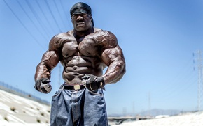 Picture pose, gloves, bandana, muscle, muscle, press, bodybuilder, abs, bodybuilder, Kali Muscle, Kali Muscle