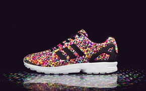 Picture Adidas, sneakers, Adidas, Flux Multi Color