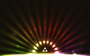 Picture color, triangles, rays