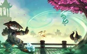 Picture World of Warcraft, wow, art, dragon, panda, Forest, World of Warcraft: Mists of Pandaria
