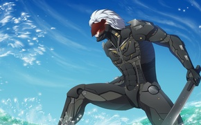 Wallpaper Raiden, Metal Gear Rising: Revengeance, Mr. Lightning Bolt, White Devil, art, Jack the Ripper, Snake, ...