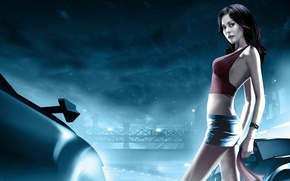 Picture auto, night, race, brooke burke, need for speed, nfs, underground 2