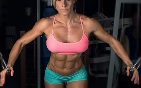 Picture fitness, abs, Sarah-Banner
