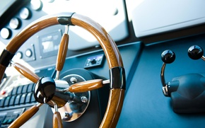 Picture macro, stay, management, yachts, yacht, blur, devices, deck, summer, salon, the wheel, bokeh, yacht, travel, …