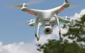 Picture Phantom, sky, cloud, vegetation, drone, kumo, quadcopter, DJI Phantom Vision Plus V3