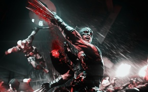 Picture blood, X-Men, wolverine, violence