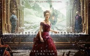 Wallpaper Keira Knightley, Anna Karenina, snow, train, Jude Law, the film
