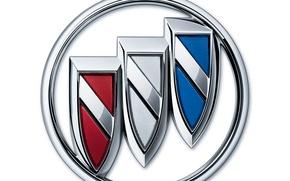 Wallpaper white background, Buick, logo, buick, logo