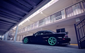Picture car, Silvia, Nissan, hotel, rims, parking, S13