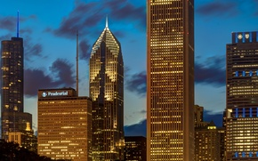 Picture Chicago, USA, AON Center, One Prudential Plaza, Blue Cross Blue Shield, Illinois, Two Prudential Plaza