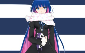 Picture girl, toy, anime, art, scarf, Chalco, anarchy stocking, panty and stocking with garterbelt