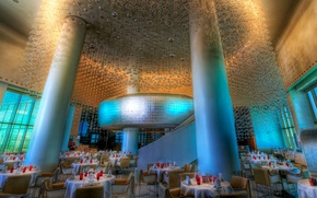 Picture restaurant, the hotel, hdr, column, dining room, the hotel