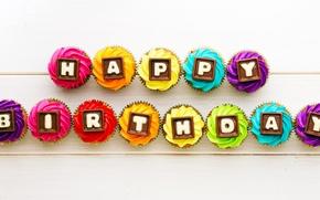 Picture cupcake, happy birthday, happy birthday