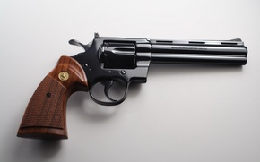 Wallpaper gun, weapons, Colt Python1206