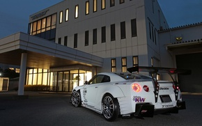Picture tuning, the evening, nissan, sport, tuning, gtr