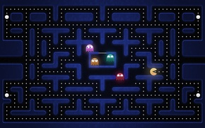 Picture monsters, game, level, pac man, the course, truck