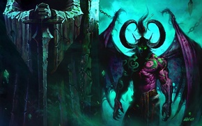 Picture World of Warcraft, Illidan, WOW, Stormrage, Demon, Statue, Illidan Stormrage